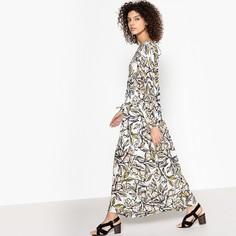 Платье длинное с рисунком CAROLINE Suncoo