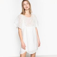 Платье короткое из английского кружева с короткими рукавами SEE U Soon