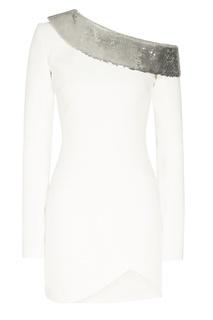 Платье мини с отделкой пайетками David Koma