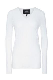 Белый пуловер с ажурной отделкой Marc Jacobs