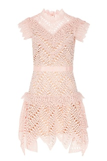 Розовое кружевное платье Self Portrait