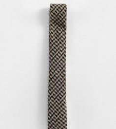 Коричневый галстук с принтом гусиная лапка Heart & Dagger - Коричневый