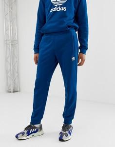 Синие джоггеры с логотипом-трилистником adidas Originals - Синий