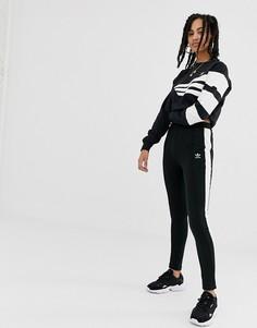 Черные суперузкие джоггеры с полосой сбоку adidas Originals - Черный