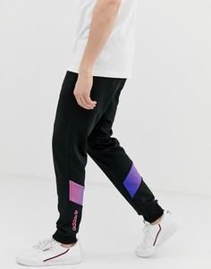 Черные спортивные брюки с графическим принтом adidas Originals - Черный