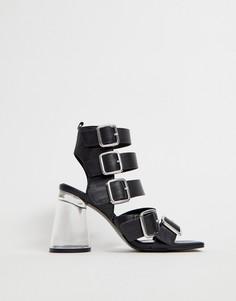 Босоножки на каблуке с ремешками ASOS DESIGN - Черный
