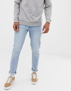 Голубые джинсы скинни Solid - Синий !Solid