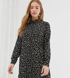 Свободное платье-рубашка с цветочным принтом Daisy Street - Черный