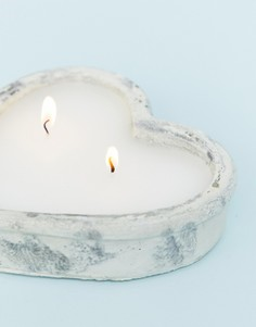 Свеча в форме сердца Candlelight - Кремовый