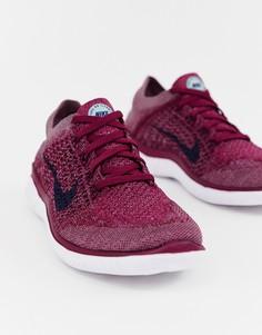Кроссовки ягодного цвета Nike Running Free Run Flyknit - Фиолетовый
