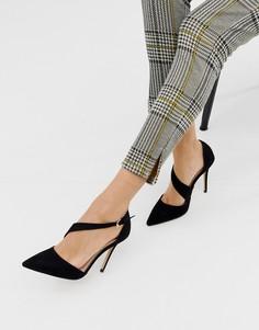 Туфли на каблуке с острым носом и асимметричными ремешками Carvela - Черный