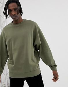 Oversize-свитшот цвета хаки ASOS DESIGN - Зеленый