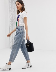 Выбеленные светлые джинсы бойфренда ASOS DESIGN - Синий