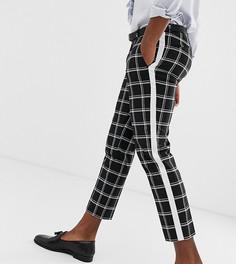 Укороченные брюки скинни с полосками Heart & Dagger - Черный