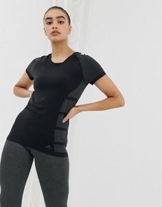 Черная футболка Adidas primeknit cru - Черный