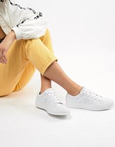 Белые кожаные кроссовки Converse One Star - Белый