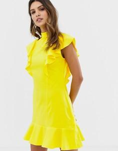 Платье без рукавов с оборками Closet - Желтый