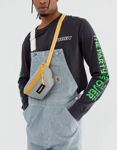 Серая сумка-кошелек объемом 2 литра с контрастным ремешком Eastpak Springer - Серый