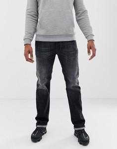 Серые джинсы прямого кроя Diesel Larkee 087AM - Серый