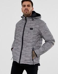 Серая дутая куртка Blend - Серый