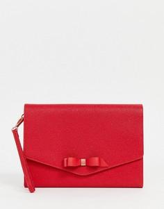 Кожаный клатч-конверт Ted Baker Krystan - Красный