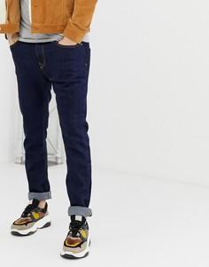 Темно-синие джинсы скинни Bershka - Синий