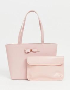 Сумка для покупок с бантом Ted Baker Jessica - Розовый