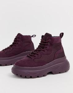 Фиолетовые походные кроссовки с толстой подошвой Missguided - Фиолетовый