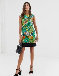 Платье без рукавов с цветочным принтом Closet - Мульти