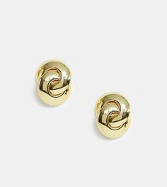 Позолоченные массивные серьги-гвоздики Regal Rose - Золотой