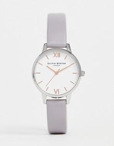 Часы с серо-сиреневым кожаным ремешком Olivia Burton OB16MDW26 - Серый