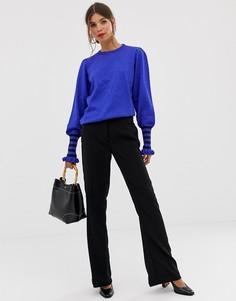 Расклешенные строгие брюки Y.A.S - Черный