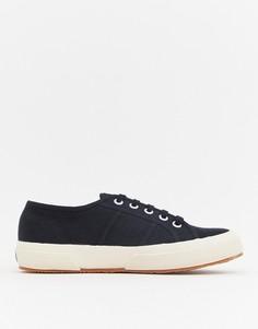 Черные классические парусиновые кроссовки Superga 2750 - Черный