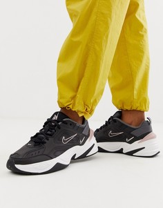Черно-розовые кроссовки Nike M2K Tekno - Черный