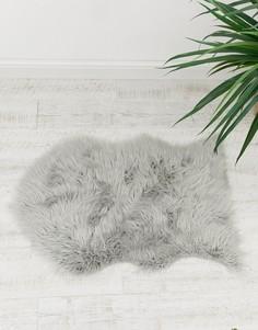 Серый коврик из искусственного меха Chickidee - Серый