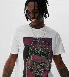 Свободная футболка с принтом Reclaimed Vintage Inspired - Белый