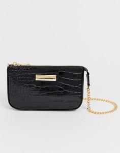 Черная сумка с цепочкой River Island - Черный