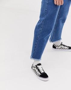 Черные кроссовки с шахматным узором Vans Old Skool - Черный