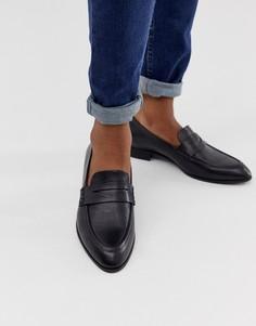 Черные кожаные лоферы Vagabond - Черный