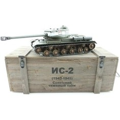 Радиоуправляемый танк Taigen ИС-2 модель 1944, СССР, зеленый, (для ИК танкового боя), деревянная коробка RTR масштаб 1:16 2.4G - TG3928-1G-IR-BOX