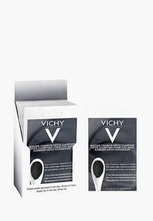 Набор для ухода за лицом Vichy Mineral Masks с древесным углем 2х6 мл (саше)