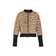 Трикотажная куртка-бомбер на молнии с леопардовым узором Louis Vuitton