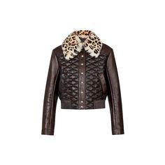 Куртка из кожи ягненка с узором Malletage Louis Vuitton