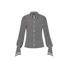 Шёлковая рубашка с принтом Louis Vuitton