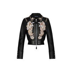 Вышитая куртка из кожи теленка Louis Vuitton