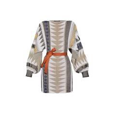 Жаккардовое платье с открытыми рукавами Louis Vuitton