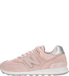 Розовые замшевые кроссовки 574 New Balance