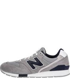 Замшевые кроссовки серого цвета 996 New Balance