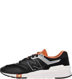 Черные кроссовки со светоотражающими вставками New Balance