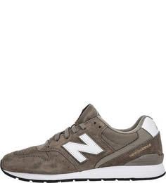 Замшевые кроссовки цвета хаки 996 New Balance